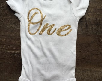 Gold spakly one bodysuit