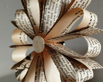 Book Page Ornament- Huckleberry Finn