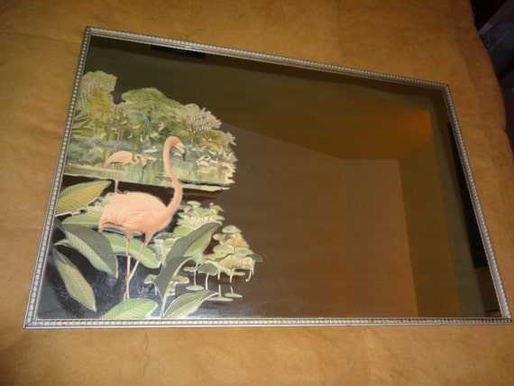 1940 S Vintage Flamingo Mirror With Robert Stern