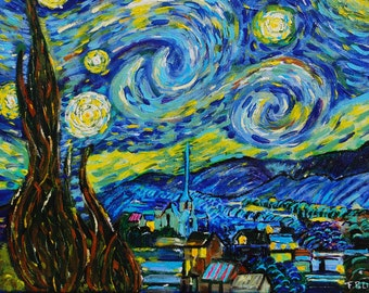 "The ""starry night"" by Vincent Van Gogh"