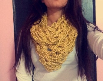 Infinity yellow home made scarf