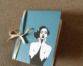 Retro handmade notepad