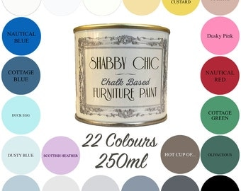 Shabby Chic Chalk Paint 250ml Choice of 22 Colours