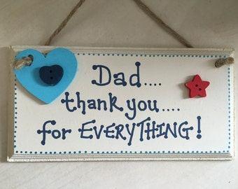 Dad, Daddy handmade wooden gift plaque