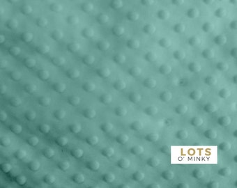 "Minky Fabric By The Yard - Turquoise Blue Dimple Dot (36""x60"")"