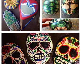 Hand-painted rocks