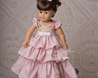 RTS Doll Clothing, 18 inch Doll, Doll Dress, Pink Doll Clothing, AG Doll, Doll Clothing, Matching Doll Set, Fancy Party Dress