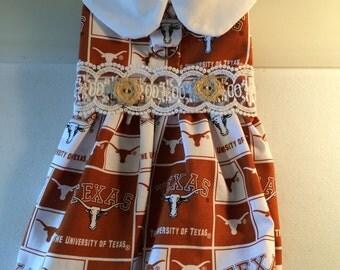 Texas Longhorns Dog Harness Dress Size Small