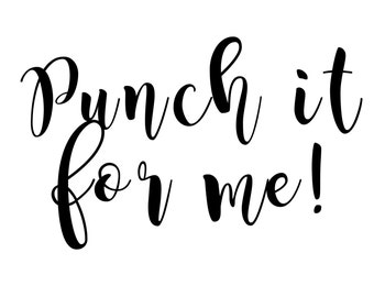 Punch My Order {Dashboards & Personal Sets Only}