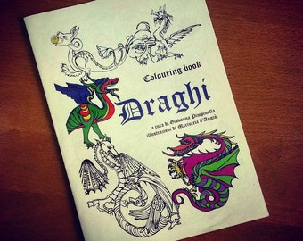 Colouring book DRAGONS