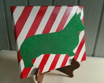 Christmas Corgi Canvas