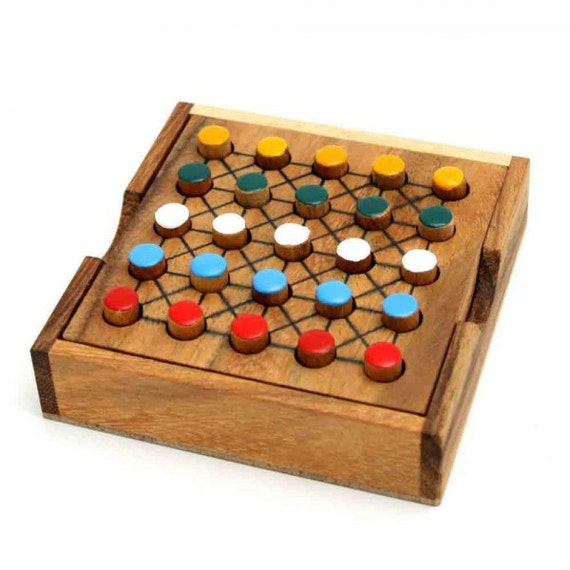 Wooden toy five different board game the organic
