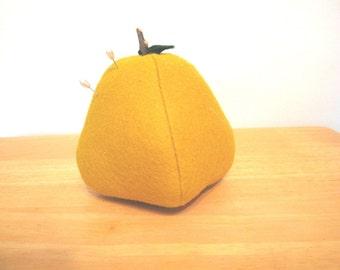 Primitive Pear Shaped Felted Wool Felt Pin Cushion