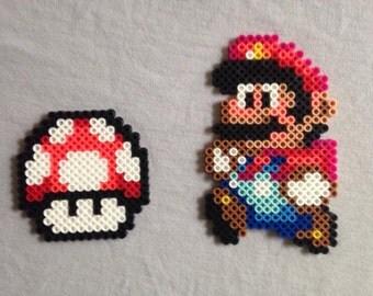 Super Mario perler bead sprite