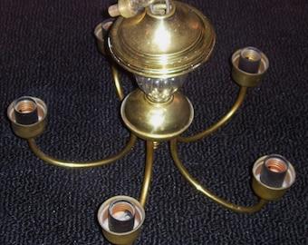 Brass Chandelier Vintage 1940's