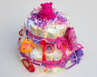 regular girl diaper cake