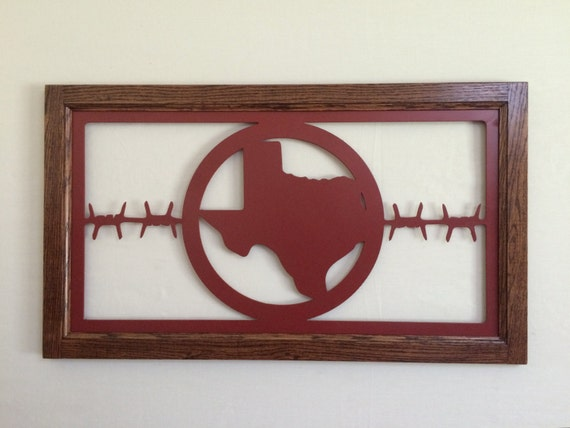 Red Metal Wall Decor: Metal Wall Art Plasma Cut Texas Red Silhouette Home Decor With
