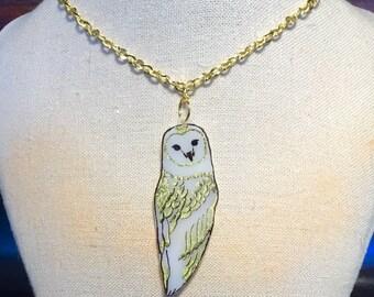 Plastic Barn Owl Necklace