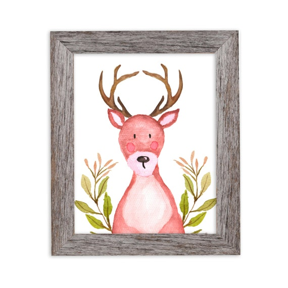Deer Nursery Art, Deer Nursery Decor, Deer Decor, Nursery Wall Art, Kids Art, Woodland Nursery, Woodland Nursery, Woodland Animals Nursery