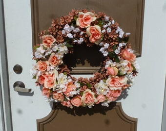 SPRING 4 - Peach roses