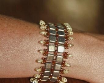 Brick Wall Cuff Bracelet