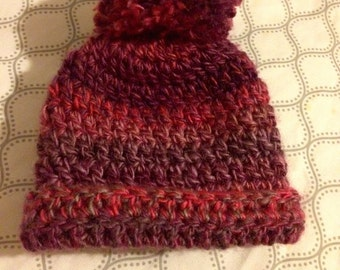 Crochet Multi Colored Baby hat, baby beanie.