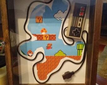 Nintendo Controller Mario Silhouette
