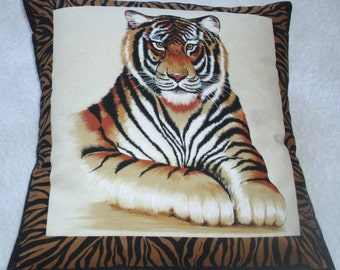 Magnificent Tiger lying facing front
