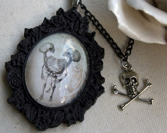 Conjoined Twins Gothic Necklace