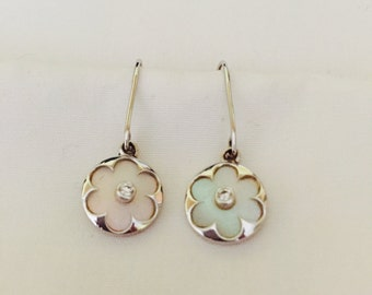 Ivory Mother of Pearl Earrings with Diamond