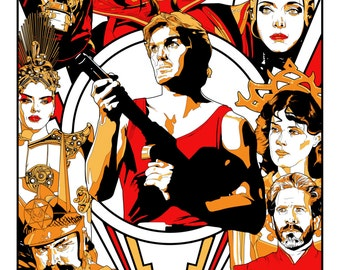 Flash Gordon Screen Printed Poster