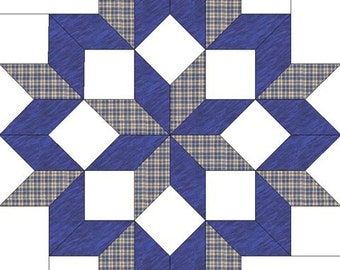 Easy to Install Barn Quilt and Free Shipping Denim Star