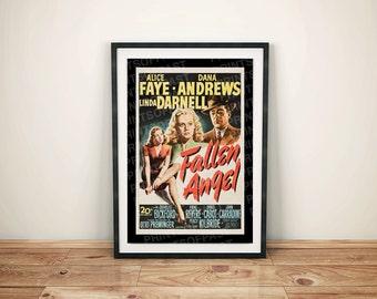 Fallen Angel Drama Vintage Retro Movie Poster