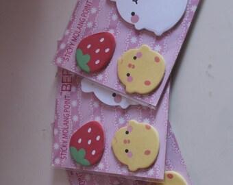 Kawaii/ Cute Molang sticky notes
