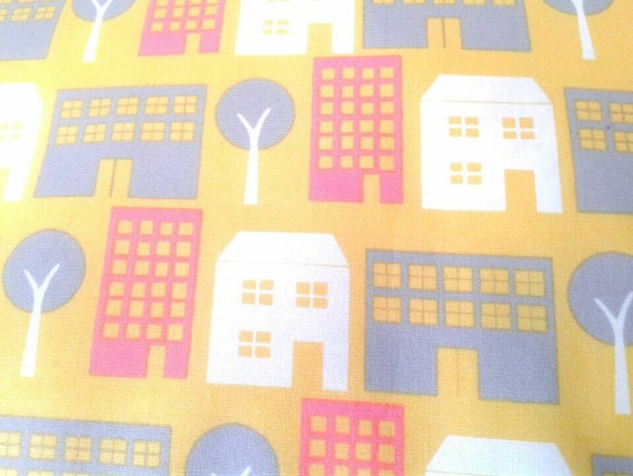 Sale clearance kids fabric organic cotton pretty city for Childrens fabric sale