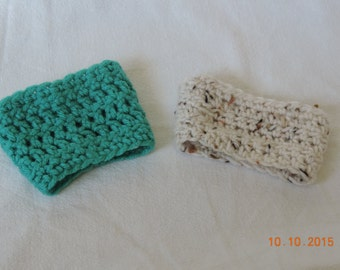 2 Pack Hot/cold crochet beverage sleeve