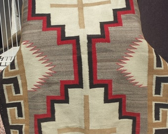 L@@K!! Rare Vintage Navajo Weaving Blanket Native American Indian Rug 1920's