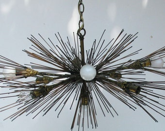 Original 1950's sputnik urchin chandelier lamp - Not a reproduction!