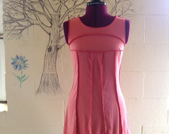 pink jersey smock dress