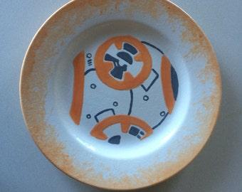 Handpainted Star Wars Plate (BB-8 Inspired Design)