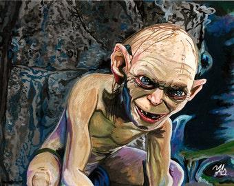 Gollum painting