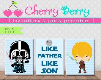 StarWars Nursery Art -Like Father Like Son- Printable - Digital File -8x10