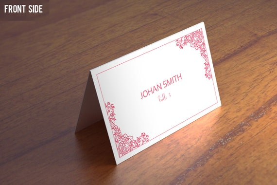 Wedding Place Cards Template Diy Printable Placecard