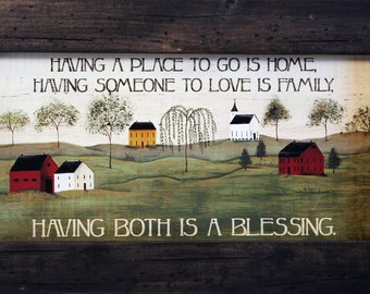 Primitive Country Decor, Country Wall Decor, Inspirational Saying, Distressed Wood Frame, Farmhouse Decor, Farm Decor, Country Decor, 11x19.