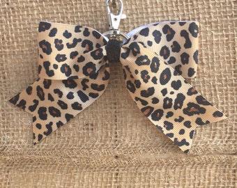 Brown/Black Cheetah Back-Pack Bow