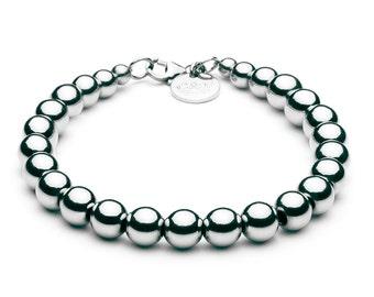 Ball Bracelet • 8 mm • silver