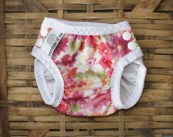 Swim Nappy - swimmers - reusable - mcn - pul - baby - baby shower - baby gift - swimwear - floral - handmade - swim diaper