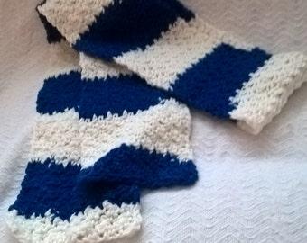 Blue & White Stripes Scarf