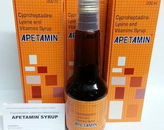 2 x Apetamin Vitamin Syrup 200 ml No.1 Best  Appetite Stimulant