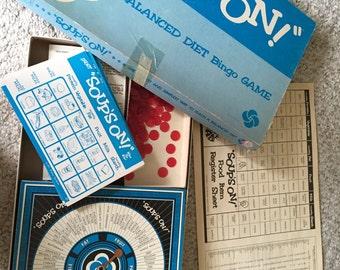 Vintage game: Soups On! A balanced diet bingo game